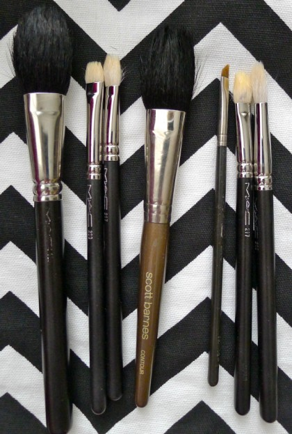 4. Lay the brushes flat to dry overnight. Laying them flat ensures water doesn't leak into the handle of the brush, which can loosen the glue over time causing the brush to deteriorate and eventually break.