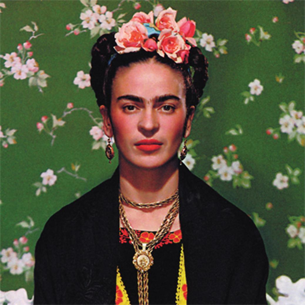 """Frida on White Bench,"" photograph by Nickolas Muray, 1939. Submitted image"